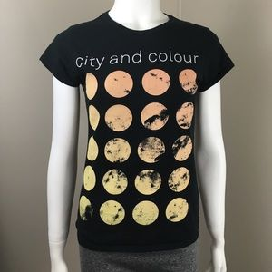 Women's City And Colour 2014 T-shirt Black Small